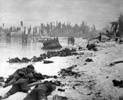 Dead marines on Tarawa