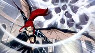 Erza destroys lacrima