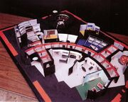 Matt Jefferies pre-visualization model of the USS Enterprise interior sets