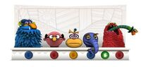 GoogleDoodle-JimHenson&#39;s75th-(2011-09-24)-RedMonsterEating