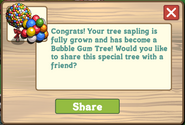 Bubble Gum Tree Growth Message