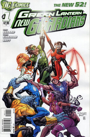 Cover for Green Lantern: New Guardians #1 (2011)