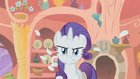 Rarity mad after being hit with pillow S1E8