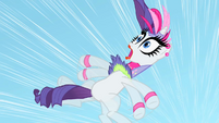 Rarity flails her arms as she freefalls S1E16