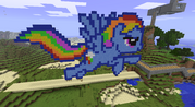 FANMADE Rainbow Dash Minecraft v3