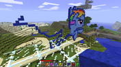 FANMADE Rainbow Dash Minecraft building 2