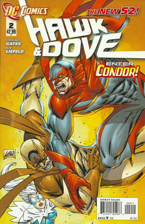 Cover for Hawk and Dove #2
