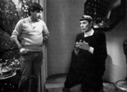 Nicholas Meyer and Leonard Nimoy in Spock&#39;s quarters