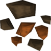 A detailed image of some copper ore.
