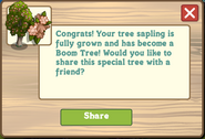 Boom Tree Growth Message