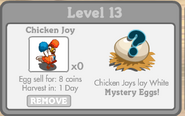 Chicken Joy Inside Chinken Coop
