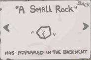 A small rock