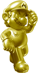 Golden Mario Statues SM3DW