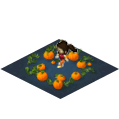 Kid Playing In Pumpkin Patch-icon