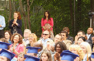Fiona looks on at graduation