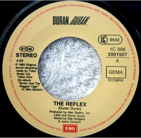 The reflex germany 1C 006 2001507 duran duran song single lyrics
