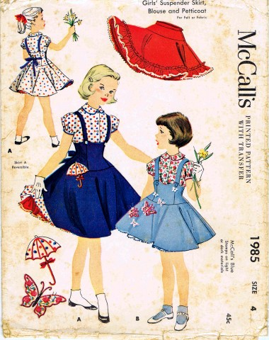 VINTAGE PATTERNS SKIRTS and PANTS