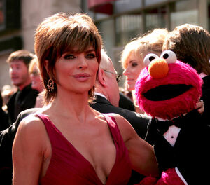 Lisa Rinna and Elmo