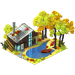 Fall House With Pond-icon