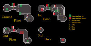 Black Knights' Fortress Building Map