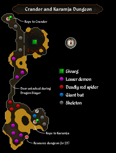 Crandor and Karamja Dungeon map