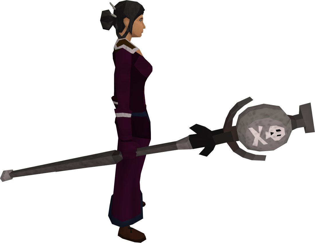 Death talisman staff equipped