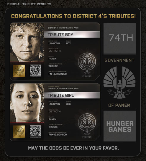 Hunger Games District Four tributes