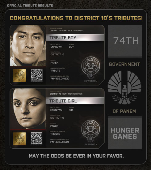 The Hunger Games District 10 tributes