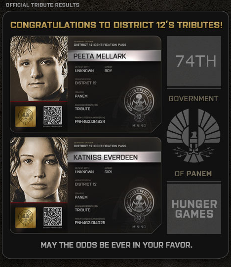 The Hunger Games District 12 tributes