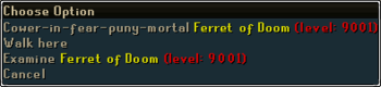 Ferret of Doom right click options