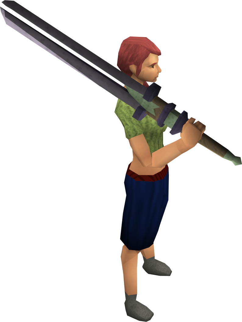 Fractite 2h sword equipped