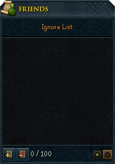 Ignore list