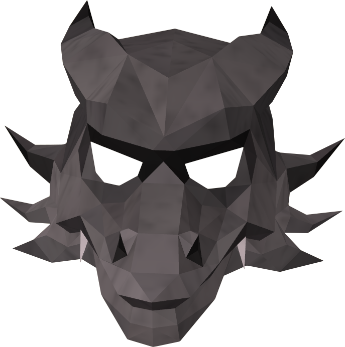 Iron dragon mask detail