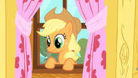 Applejack makes a face due to the CMC&#39;s poor performance S1E18