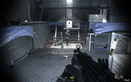 Flanking enemies in third hull atrium Crew Expendable CoD4