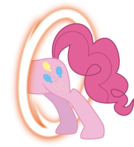 FANMADE Pinkie portal back by blackgryph0n-d3f93p8