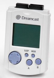 An image showing a video game peripheral for Sega&#39;s Dreamcast console.