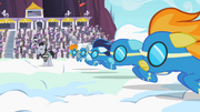 The Wonderbolts prepare to race S2E09