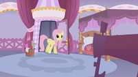 Fluttershy enters Rarity's boutique S1E14