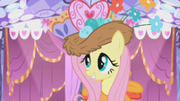 Fluttershy in her custom Gala dress S1E14