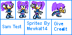 SAm Test The Hedgehog Sprites by Mewkat14