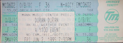 Ticket mann music center 1995 duran duran