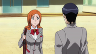 Orihime asking Uryū over Ichigos abduction