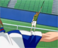 Shiraishi's stance for Entaku Shot