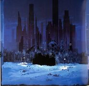 Batman Returns-MatteWorld painting