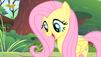 Fluttershy looks at the CMC S1E23