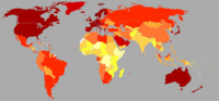 GDP nominal per capita world map IMF 2008