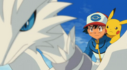 P14 Ash controlando a Reshiram