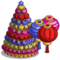 New Year Lantern Tree-icon