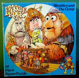 Hestair 1983 fraggle puzzle wembley and the gorgs